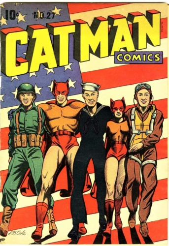 Comic book Cat Man, April 1945, Illustrated by L.B. Cole